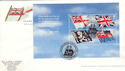 2001-10-22 Unseen and Unheard Full Pane Portsmouth FDC (51297)