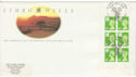 1994-03-01 Wales Bklt Definitive St Davids Day Pmk Souv (51301)
