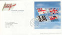 2001-10-22 Flags & Ensigns M/Sheet T/House FDC (51340)