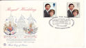 1981-07-22 Royal Wedding Althorp FDC (51446)
