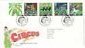2002-04-09 Circus Stamps T/House FDC (51840)