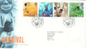1998-08-25 Carnival Stamps Bureau FDC (51874)