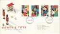 1989-05-16 Games and Toys Stamps London FDC (52152)