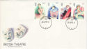 1982-04-28 British Theatre Stamps Forces PO 70 cds FDC (52240)