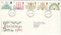 1980-11-19 Christmas Stamps Dunstable FDC (52256)