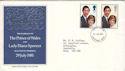 1981-07-22 Royal Wedding Stamps Dunstable FDC (52258)