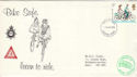 1978-08-02 Cycling Stamp Bike Safe Surrey Police FDC (52380)