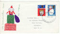 1966-12-01 Christmas Stamps Cardiff FDI (52504)