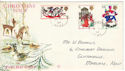 1968-11-25 Christmas Stamps Margate cds FDC (52511)