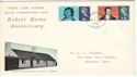 1966-01-25 Robert Burns Stamps Margate cds FDC (52527)