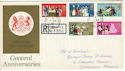 1970-04-01 Anniversaries Stamps Margate cds FDC (52546)