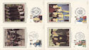1982-03-24 Youth Orgs Benham Silk Postcards FDC (52593)