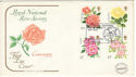 1976-06-30 Roses Stamps St Albans FDC (52714)