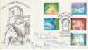 1987-11-17 Christmas Holy Cross Pattishall FDC (52827)