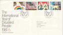 1981-03-25 Year of Disabled Stamps Windsor FDC (52902)