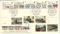 1980-03-12 Railway Stamps Doubled 1985 Rare FDC (52949)