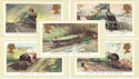 1985-01-22 Famous Trains PHQ 81 Mint Set (52968)