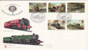1985-01-22 Famous Trains Kings Cross Stn FDC (52969)