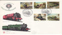 1985-01-22 Famous Trains Euston Station FDC (52970)