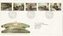 1985-01-22 Famous Trains Stamps Bureau FDC (52974)