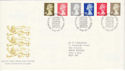 1993-10-26 Definitive Stamps Bureau FDC (H-53112)