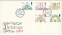 1980-11-19 Christmas Stamps Holly Bush Ledbury FDC (53660)