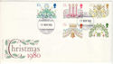 1980-11-19 Christmas Stamps British Library FDC (53664)