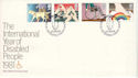 1981-03-25 Year of Disabled Le Court Petersfield FDC (53670)