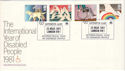 1981-03-25 Year of Disabled Arthritis Care SW1 FDC (53671)