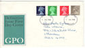 1968-07-01 Definitive Stamps Aberdeen FDI (53888)