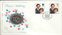 1981-07-22 Royal Wedding + Coin London FDC (53927)