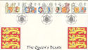 1998-02-24 Queen's Beasts Heraldry Soc London FDC (54183)