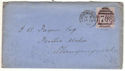 1888 QV 1d Lilac used on Cover Shrewsbury (54255)