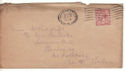 1924-09-13 King George V 1½d Brown G perfin on Cover (54319)