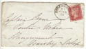 1874 QV 1d Red Plate 161 used on Cover (54346)