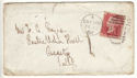 1868 QV 1d Red Plate 76 Used on Cover (54347)