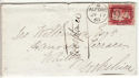 1868 QV 1d Red Plate 80 Used on Cover (54348)