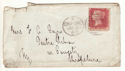 1867 QV 1d Red Plate 89 Used on Cover (54401)