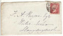 1876 QV 1d Red Plate 150 used on Cover (54403)
