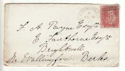 1878 QV 1d Red Plate 165 used on Cover (54407)