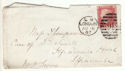 1867 QV 1d Red Plate 87 Used on Cover (54409)