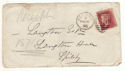 1878 QV 1d Red Plate 196 used on Cover (54410)