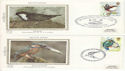 1980-01-16 Birds Benham Sml Silks Set of 4 FDC (54422)