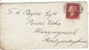 1876 QV 1d Red Plate 180 used on Cover (54457)
