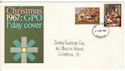 1967-11-27 Christmas Stamp Liverpool FDI (54520)