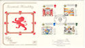 1987-07-21 Scottish Heraldry Stamps BF 2144 PS FDC (54610)