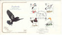 1989-01-17 Bird Stamps Lundy Island Bideford FDC (54623)