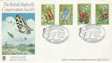 1981-05-13 Butterflies Large Blue Quorn FDC (54642)