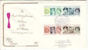 1986-04-21 Queen's 60th 17 Bruton St London W1 FDC (54737)