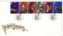 2001-09-04 Punch and Judy Stamps Blackpool FDC (54797)